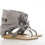 Reducere Sandale gri tip cizma Slim