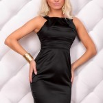 Rochie Satin Effect Black - Reduceri haine
