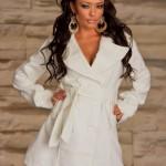 Palton Gentle Touch White - Reduceri haine
