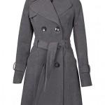 Palton gri de iarna matlasat - Reduceri haine