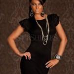 Rochie Feminine Intuition Black - Reduceri haine