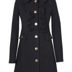 Palton negru cu volane - Reduceri haine