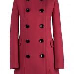 Reducere Palton rosu matlasat cu guler tunica