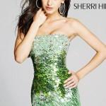 Rochie Sherri Hill Verde