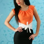 Rochie Tiffani Smile Orange