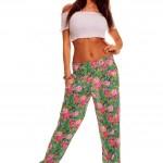 Pantaloni Summer Rose Green