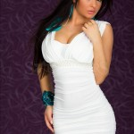 Rochie Alba Magic Pearls