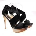 Sandale de dama negre