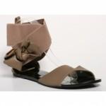 Sandale ieftine kaki Petronela