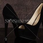 Sandale negre Beauty