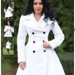 Palton alb dama LaDonna Modern