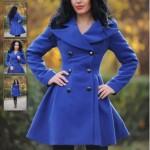 Palton albastru LaDonna Modern Note