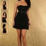 Rochie eleganta neagra Fofy Fashion
