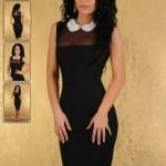 Rochie neagra eleganta pentru Revelion