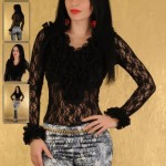 Body din dantela neagra Romantic Wear
