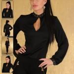Camasa Body negru PrettyGirl Mirage