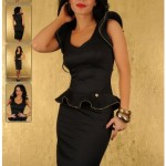 Rochie neagra Modern Lady
