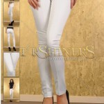 Pantaloni albi dama Fofy
