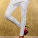 Pantaloni eleganti cu turul lasat