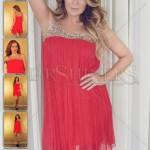 Rochie rosie eleganta