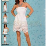 Rochie din bumbac alb