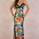 Rochie lunga colorata