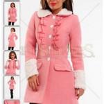 Palton roz dama LaDonna