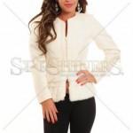 Palton alb scurt