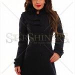 Palton cambrat negru