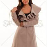 Palton dama gri