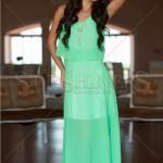 Rochie lunga verde LaDonna