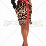 Fusta cu imprimeu leopard