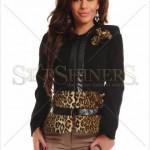 Palton elegant cu blanita ecologica