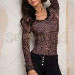 Body cu imprimeu animal print