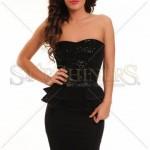 Rochie eleganta cu paiete negre Black Friday