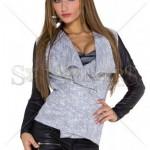 Jacheta asimetrica tricotata