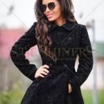 Palton negru elegant LaDonna