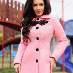 Palton roz dama