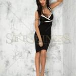 Rochie neagra pana la genunchi