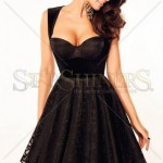 Rochie neagra scurta eleganta