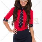 Camasa rosie cu cravata