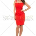 Rochie rosie cu bretele
