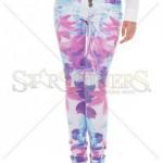 Pantaloni cu flori Mexton