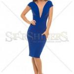 Rochie albastra scurta eleganta