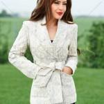 Jacheta alba din lana