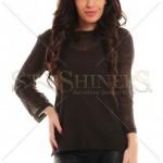Bluza transparenta asimetrica