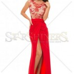 Rochie lunga rosie de seara