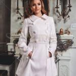 Palton alb elegant ieftin