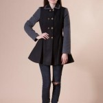 Palton negru de lana