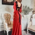 Rochie lunga rosie ieftina